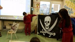 Captain Jack's pirate flag.