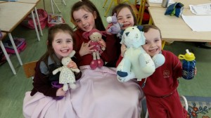 We loved showing our teddies to all our friends.