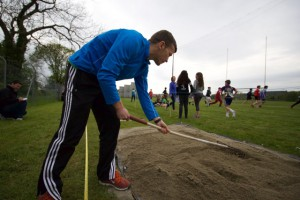 David raking long jump